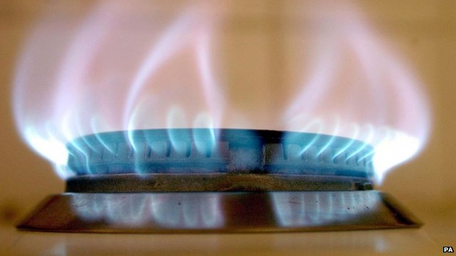 Gas ring on cooker hob