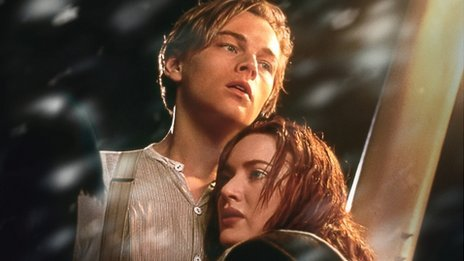 Leonardo DiCaprio and Kate Winslet in Titanic 3D