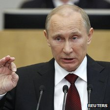 Russia&#039;s President-elect Vladimir Putin, 11 Apr 12