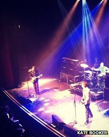 An Instagram image of the Lemonheads on stage