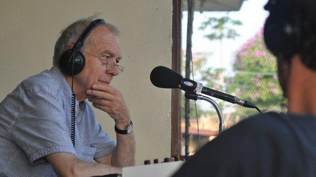 John Humphrys in studio in Liberia