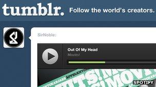 Tumblr Spotify screenshot