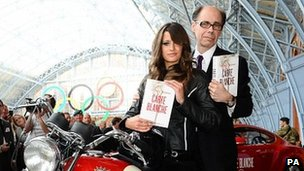 Thriller writer Jeffery Deaver arrives with a Bond girl to promote his new James Bond novel
