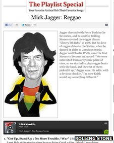 Rolling Stone Spotify button