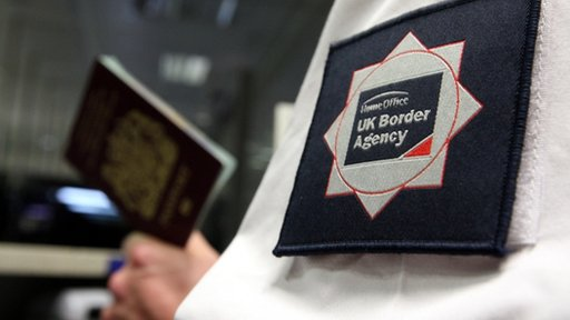 UK Border Agency guard