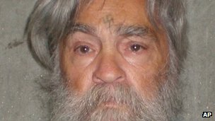 Photo of a 77-year-old Charles Manson from the California department of corrections 5 April 2012