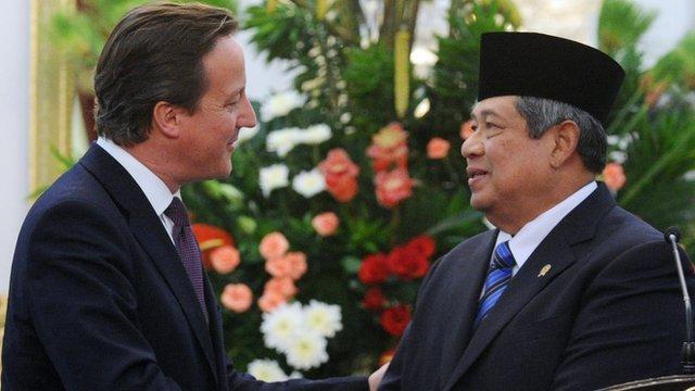 David Cameron and President Susilo Bambang Yudhoyono