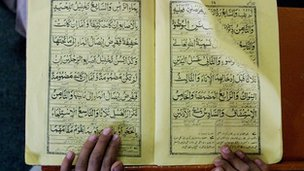 A copy of the Koran