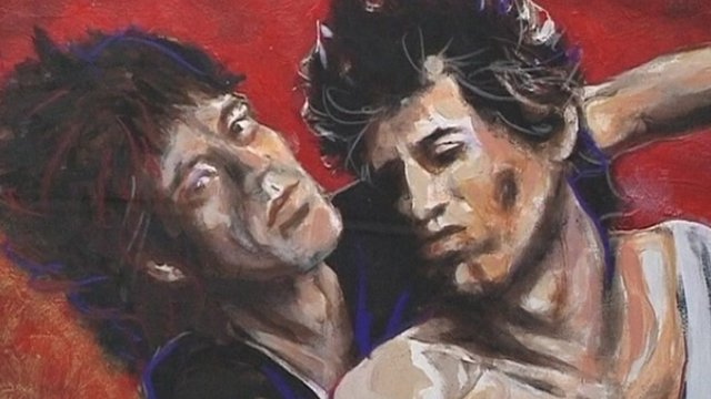 A Ronnie Wood painting