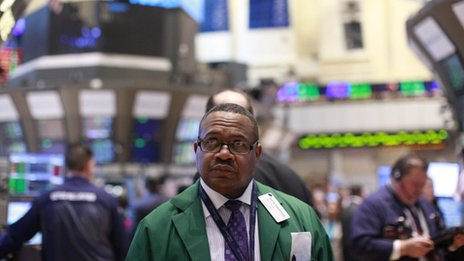 Trader on the New York Stock Exchange