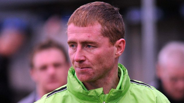 Dungannon Swifts player-coach Darren Murphy