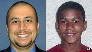 Composite picture of George Zimmerman and Trayvon Martin