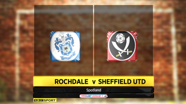 Rochdale 2-5 Sheffield United