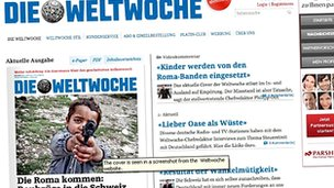Screen grab of the Weltwoche article