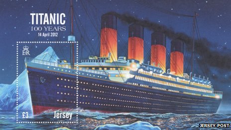 Jersey Post Titanic stamp
