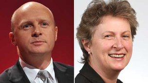 Labour MPs Liam Byrne and Gisela Stuart