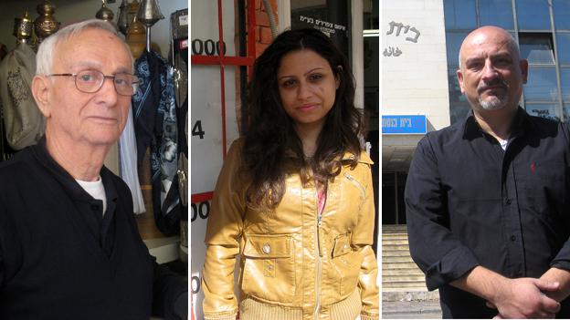 Uri Nissani (l), Rose Penhasi (m) and Kamal Penhasi (r)