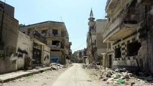 Photo of Homs distributed by the Syrian opposition, 12 April