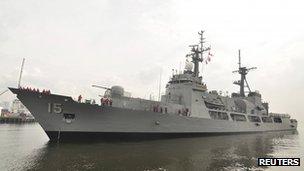 File photo: Philippines navy warship