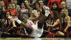 Chicago Bulls' Ronnie Brewer crashes to the floor