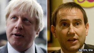 Boris Johnson and Lawrence Webb