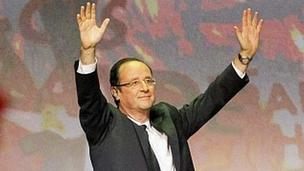 Francois Hollande at campaign rally, 3 Mar 12