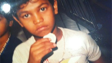 Saroo Brierley as a child