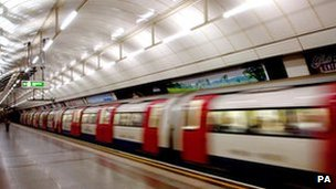 Tube leaving station