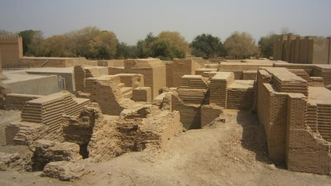 The reconstruction of Nebuchadnezzar's palace, built on top of the original ruins