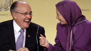 Rudy Giuliani and Maryam Rajavi