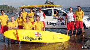 RNLI beach lifeguards