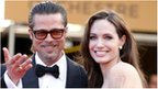 Brad Pitt and Angelina Jolie on the red carpet at the premier of Tree of Life in Cannes, France 16 May 2011