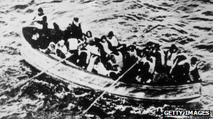 Lifeboat with survivors