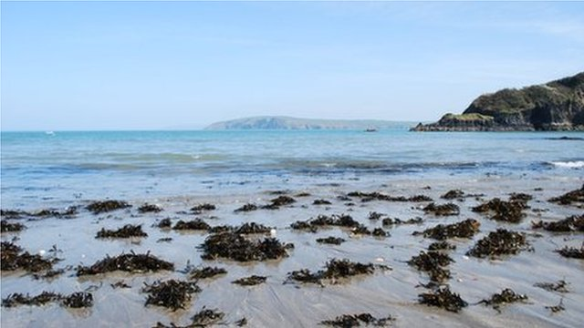 Welsh coast line