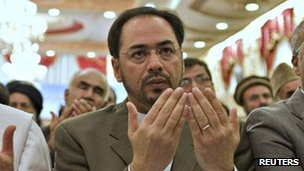 Salahuddin Rabbani pictured at Kabul Intercontinental Hotel October 4, 2011