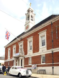 Braintree Town Hall was a gift from benefactor William Julien Courtauld