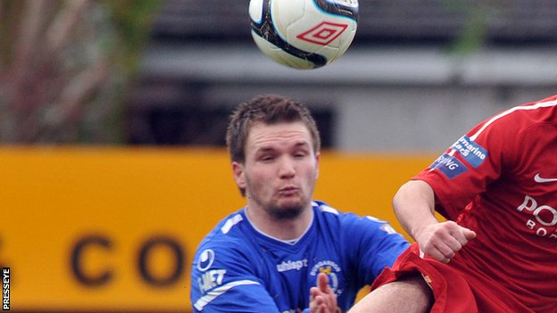 Ryan Harpur scored Dungannon's late winner at Stangmore Park.