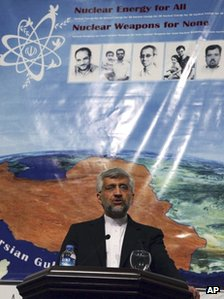 Iran&#039;s Chief Nuclear Negotiator Saeed Jalili speaks to the media after day-long talks with six world powers in Istanbul, Turkey, Saturday, 14 April, 2012. 
