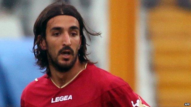 Livorno midfielder Piermario Morosini