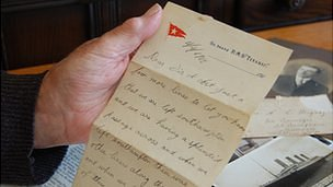 Letter written on the Titanic by Albert Denbouy