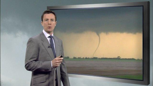 Alex Deakin with tornado footage
