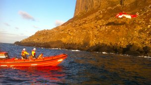 red bay lifeboat assisted in the rescue 