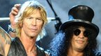 Duff McKagan and Slash of Guns N' Roses