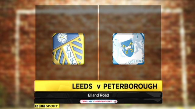 Leeds 4-1 Peterborough