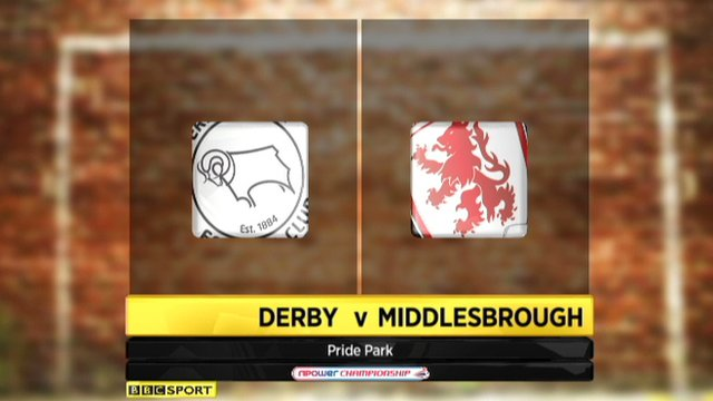Derby 0-1 Middlesbrough