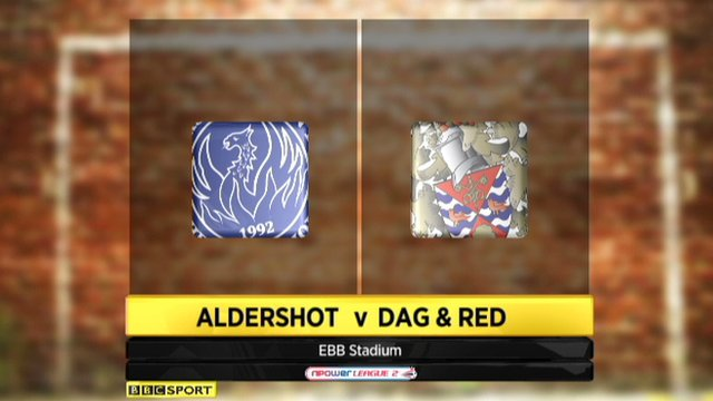 Aldershot 1-1 Dagenham and Redbridge