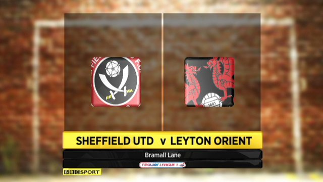 Sheffield United 3-1 Leyton Orient