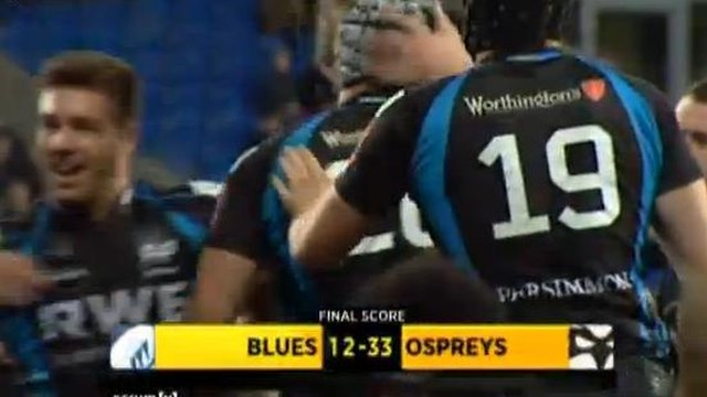 Highlights - Cardiff Blues 12-33 Ospreys