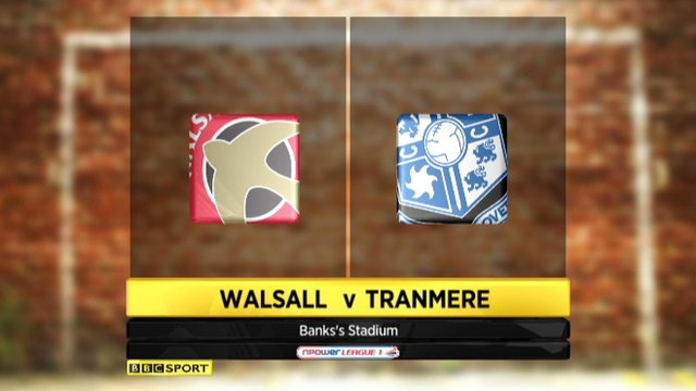 Walsall 0-1 Tranmere