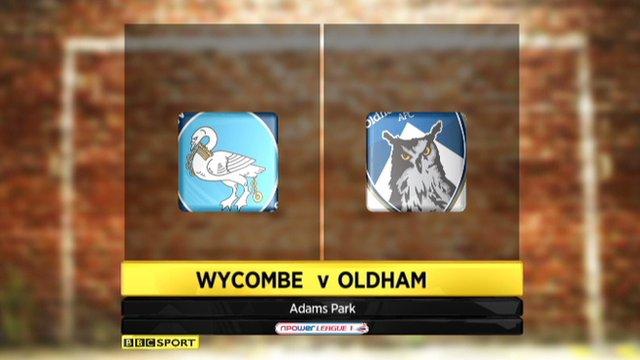 Wycombe 2-2 Oldham